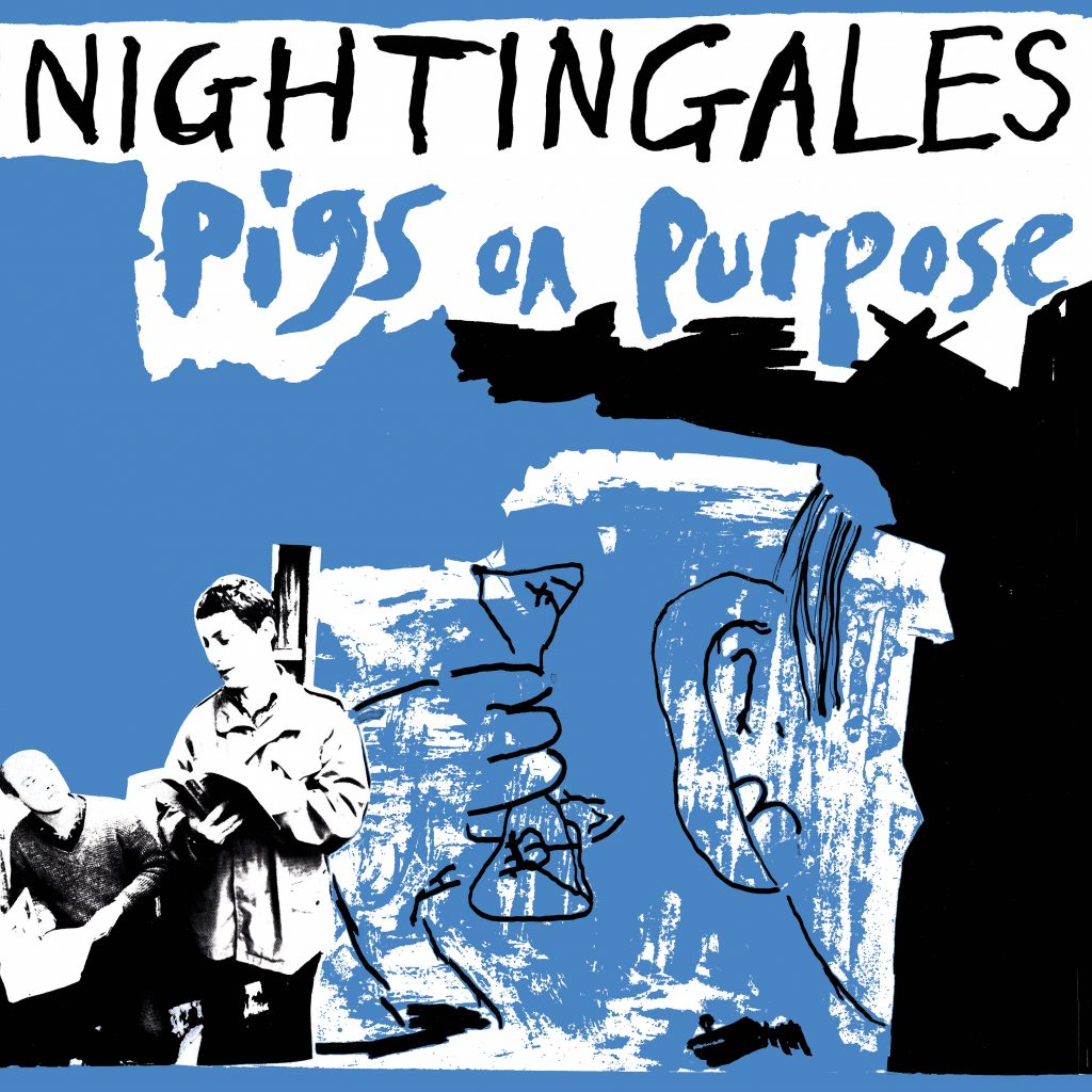Pigs On Purpose 2 X LP - BLUE vinyl, Gatefold sleeve, Dl card with Bonus tracks.